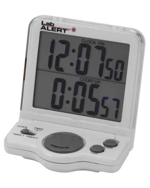 Lab Alert® Big Digit Dual Timer Clock, Blue