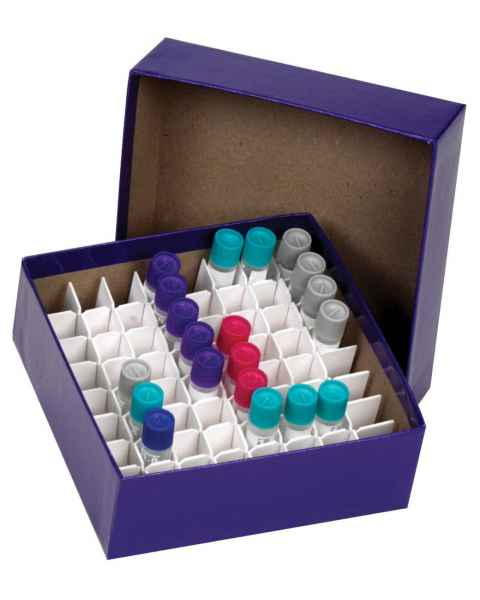 Cardboard Cryogenic Vial Blue Color Box & Lid