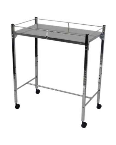 MRI Non-Magnetic Utility Table with Top Shelf & GuardRails