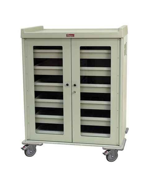 "Harloff Model IOL1260 IntraOcular Lens Storage Cart Six Drawers with Key Lock - 55.5"" H x 43.4"" W x 30.75"" D"