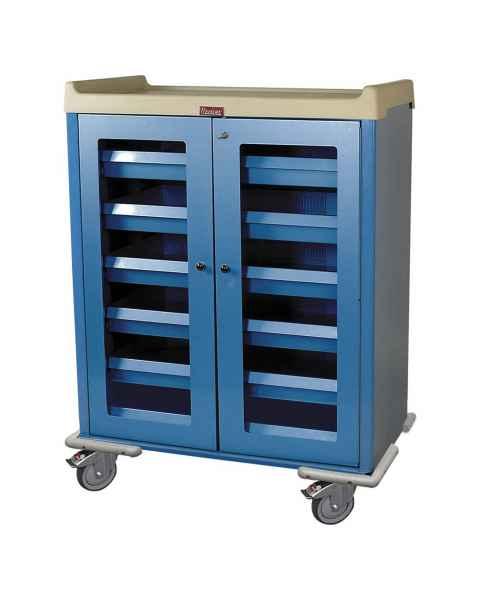 "Harloff Model IOL924 IntraOcular Lens Storage Cart Six Drawers with Key Lock - 55.5"" H x 43.4"" W x 23.5"" D"