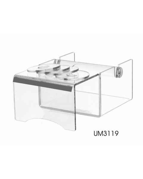 Acrylic Label Tape Dispenser with Writing Shelf