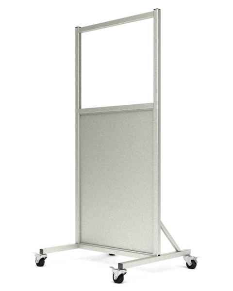 "Phillips Safety LB-2430-ACR Mobile Lead Barrier Acrylic Window Size 24"" H x 30"" W"