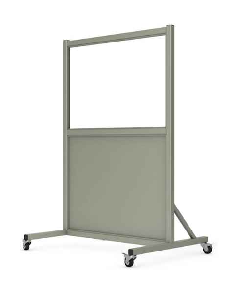"Phillips Safety LB-2436-S Mobile Lead Barrier Glass Window 24"" H x 36"" W"