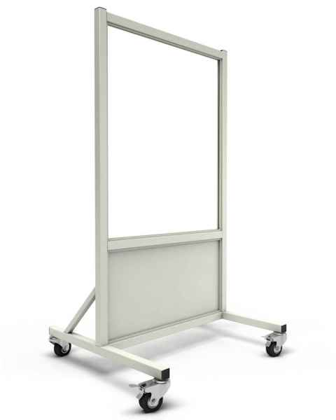 """Phillips Safety LB-3036-ACR Mobile Lead Barrier Acrylic Window 36"""" H x 30"""" W"""
