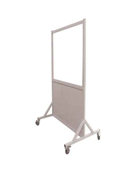 """Phillips Safety LB-3048-MRI-ACR MRI Safe Mobile Lead Barrier Acrylic Window 48"""" H x 30"""" W"""