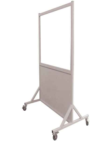 "Phillips Safety LB-3048 Mobile Lead Barrier Glass Window 48"" H x 30"" W"