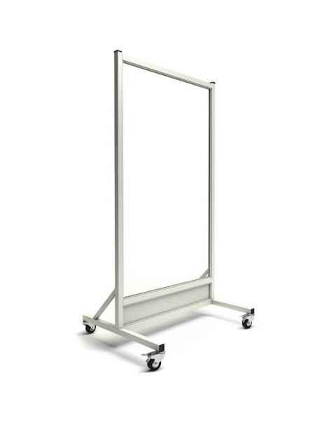 "MRI Safe Mobile Lead Barrier - Glass Window Size 60"" H x 30"" W"