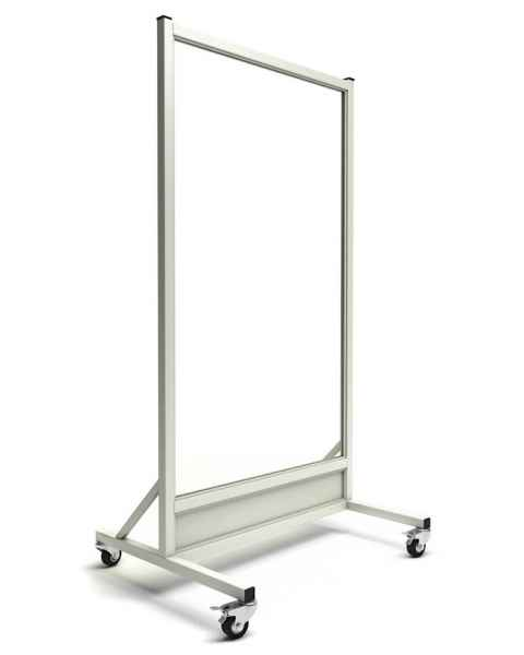 "Phillips Safety LB-3060-MRI-ACR MRI Safe Mobile Lead Barrier Acrylic Window Size 60"" H x 30"" W"