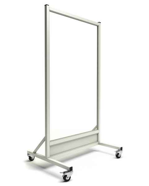 "Phillips Safety LB-3060-ACR Mobile Lead Barrier Acrylic Window Size 60"" H x 30"" W"