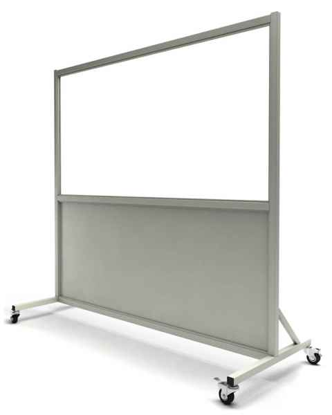 "Phillips Safety LB-3672 Mobile Lead Barrier Glass Window Size 36"" H x 72"" W"