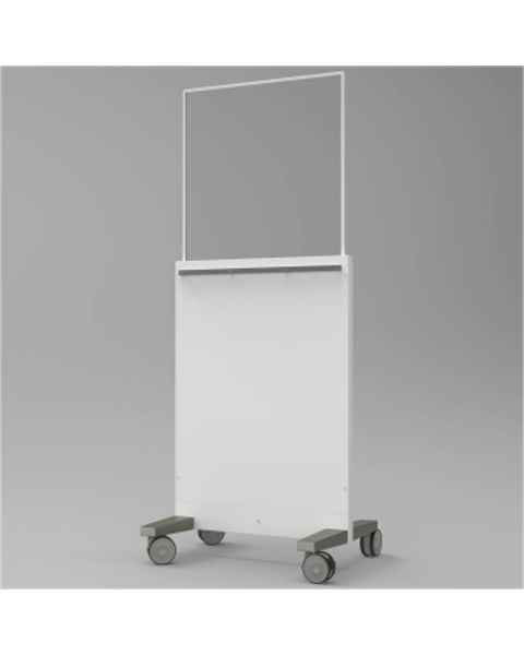 "Collapsible Mobile Lead Barrier - Acrylic Window Size 28"" H x 28"" W"