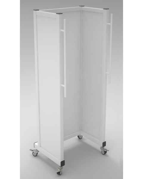 Phillips Safety LB-MB-4821 Standing Mobile Shield X-Ray Protective Barrier