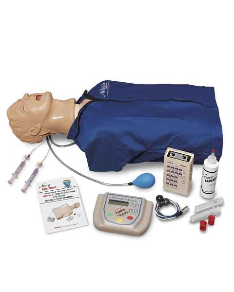 Life/form Advanced Airway Larry Torso with Defibrillation Features, ECG Simulation, and AED Training