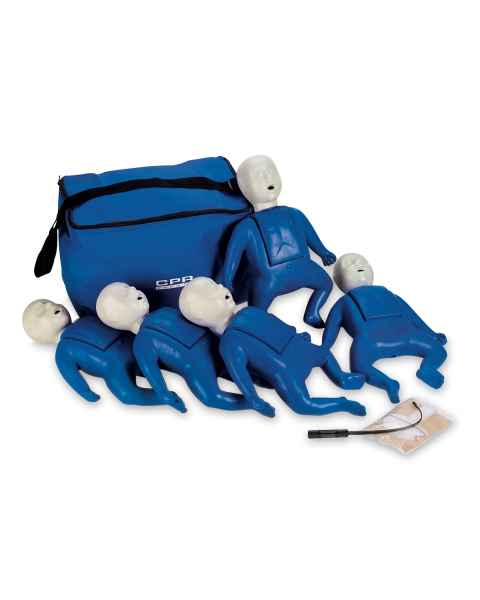 CPR Prompt Training and Practice Manikin - TPAK 50 Infant 5-Pack, Blue