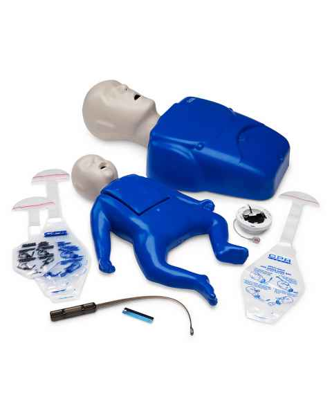 LF06312A CPR Prompt Plus Powered by Heartisense Adult/Child & Infant Manikin Training Pack - Blue