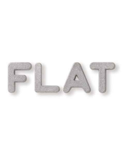 "3/4"" Plastic Flat Face Lead Letter Mounted on 1 1/8""H Vinyl Strip - 2 to 5 Characters"