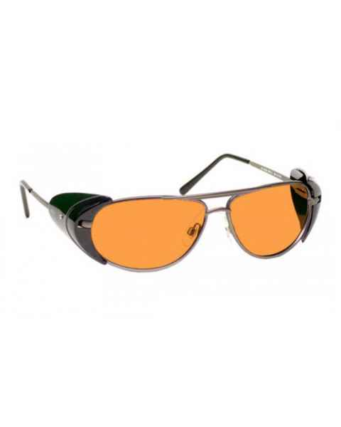 LSS-PSPBG-600 Laser Strike Blue/Green Beam Reduction Glasses - Model 600 - Pewter Frame