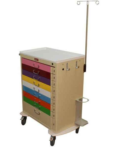Harloff M3030B9-PED-EMG Pediatric Emergency Cart 9 Drawer EMG Package