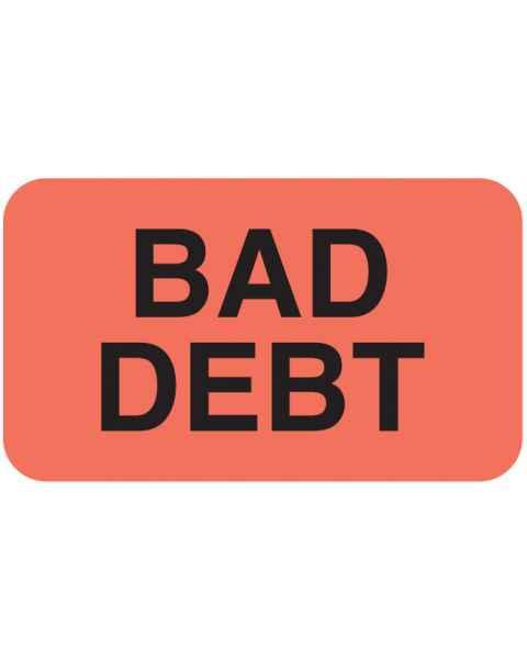"BAD DEBT Label - Size 1 1/2""W x 7/8""H"