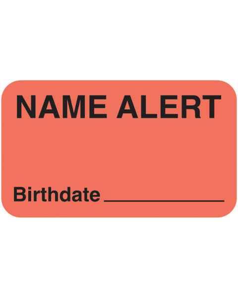 "NAME ALERT Birthdate Label - Size 1 1/2""W x 7/8""H"
