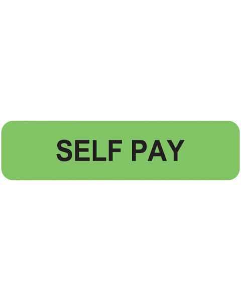 "SELF PAY Label - Size 1 1/4""W x 5/16""H"