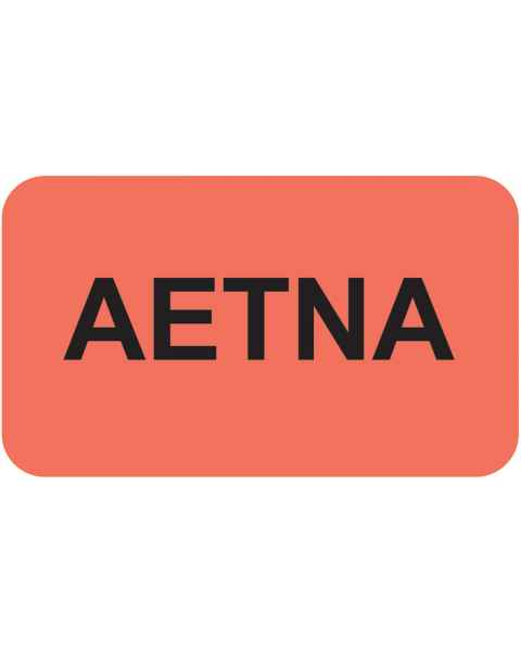 """AETNA Label - Size 1 1/2""""W x 7/8""""H"""