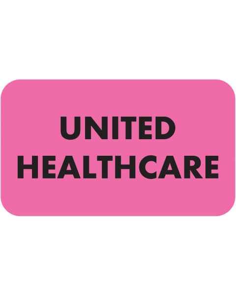 "UNITED HEALTHCARE Label - Size 1 1/2""W x 7/8""H"