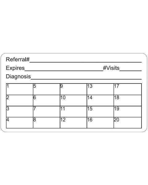 "REFERRAL#  Label - Size 3 1/4""W x 1 3/4""H"