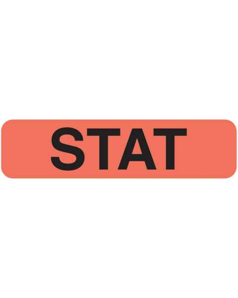 "STAT Label - Size 1 1/4""W x 5/16""H"