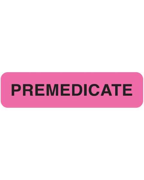 """PREMEDICATE Label - Size 1 1/4""""W x 5/16""""H"""