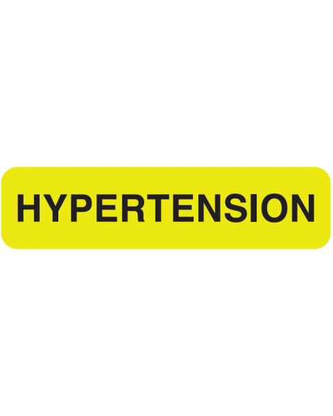 "HYPERTENSION Label - Size 1 1/4""W x 5/16""H"