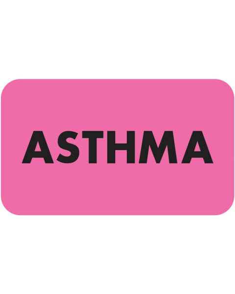"ASTHMA Label - Size 1 1/2""W x 7/8""H"