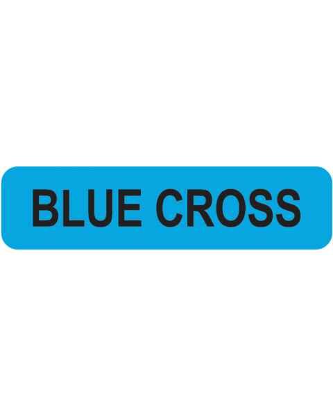 "BLUE CROSS Label - Size 1 1/4""W x 5/16""H"