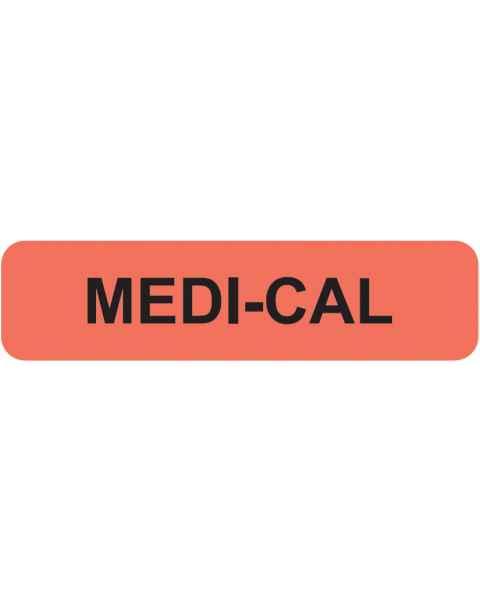 "MEDI-CAL Label - Size 1 1/4""W x 5/16""H"