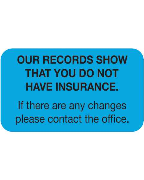 "OUR RECORDS SHOW Label - Size 1 1/2""W x 7/8""H"