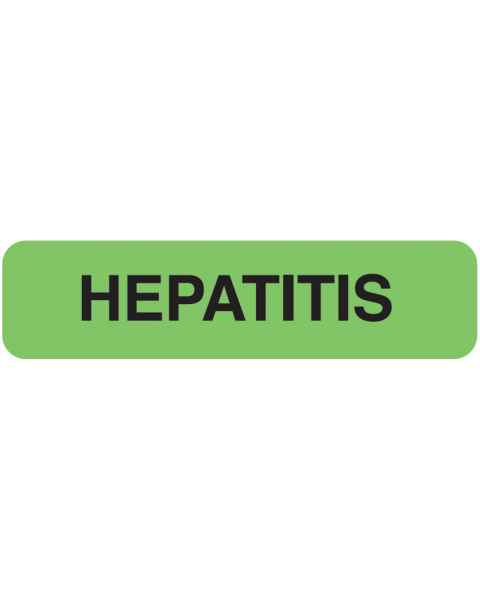 "HEPATITIS Label - Size 1 1/4""W x 5/16""H"