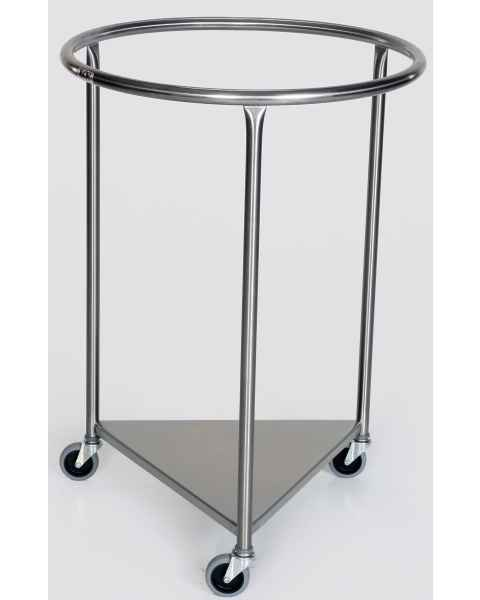 Stainless Steel Round Linen Hamper
