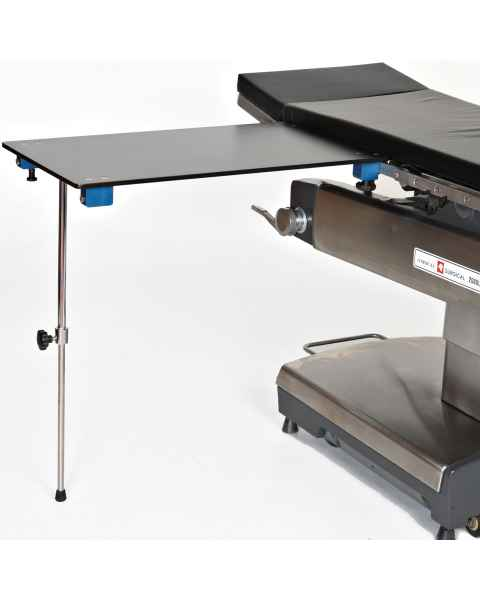 Rectangular Carbon Fiber Arm & Hand Surgery Table with Single Post Leg