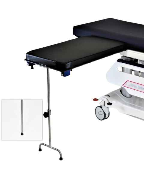 Under Pad Mount Phenolic Rectangle Arm & Hand Surgery Table: Single Leg MCM335 or Double Leg MCM336