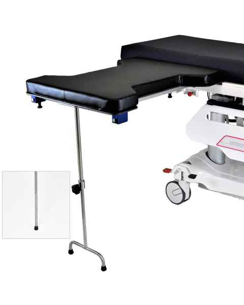 Under Pad Mount Phenolic Hourglass Arm & Hand Surgery Table: Single Leg (MCM337) or Double Leg (MCM338)