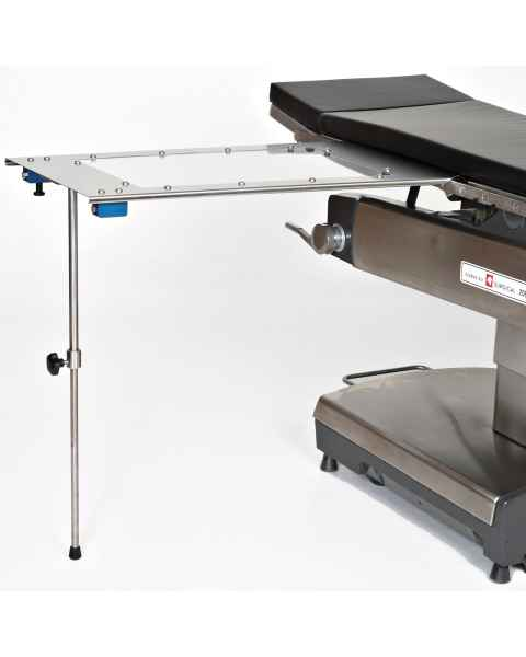 Under Pad Mount Arm & Hand Surgery Table with Single Leg