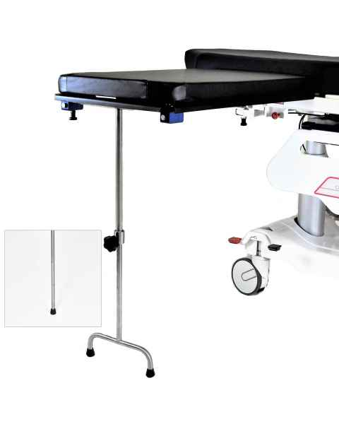 Under Pad Mount Carbon Fiber Arm & Hand Surgery Table: Single Leg (MCM342) or Double Leg (MCM343)