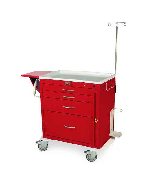 Harloff MDS3024B14-EMG1 M-Series Standard Width Short Emergency Crash Cart Four Drawers with Breakaway Lock, MD30-EMG1 Package