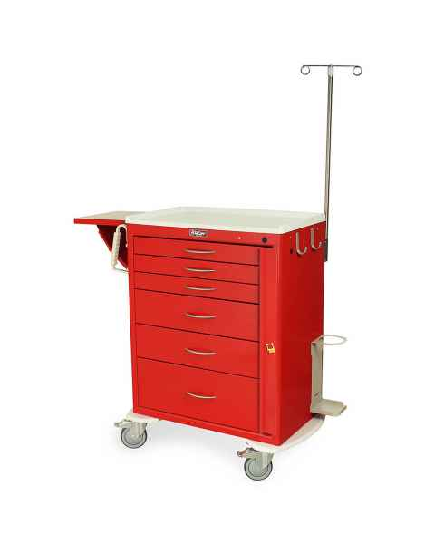 Harloff MDS3030B06-EMG1 M-Series Standard Width Tall Emergency Crash Cart Six Drawers with Breakaway Lock, MD30-EMG1 Package