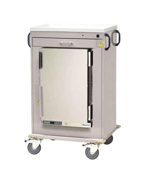 Harloff Model MH4100B Malignant Hyperthermia Cart with 1.8 Cubic Feet Follett Refrigerator, One Drawer, & Breakaway Lock
