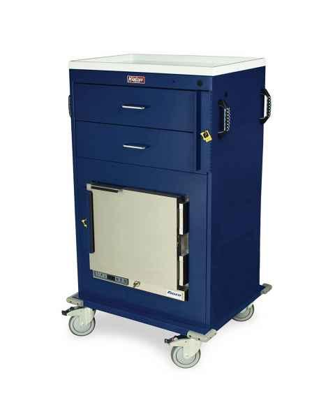 Harloff Model MH4216B Malignant Hyperthermia Cart with 1.0 Cubic Feet Follett Refrigerator, Two Drawers, Breakaway Lock