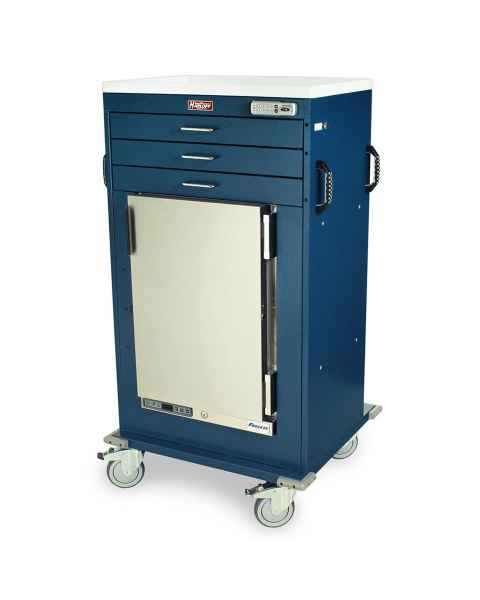 Harloff Model MH4300E Malignant Hyperthermia Cart with 1.8 Cubic Feet Follett Refrigerator, Three Drawers, Basic Electronic Push Button Lock