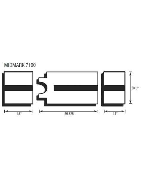Midmark 7100 3 Piece Table Pad Set