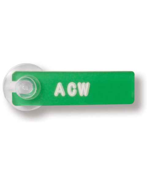 Mark-Well Initial Marker with Suction Cup - 1 to 3 Characters